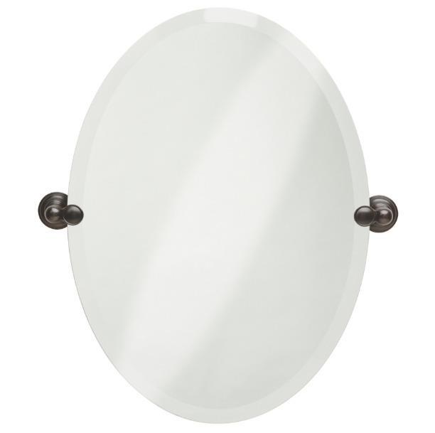 Bathroom Tilt Mirror: Oval Tilting Frameless Bathroom Mirror Beveled Edges