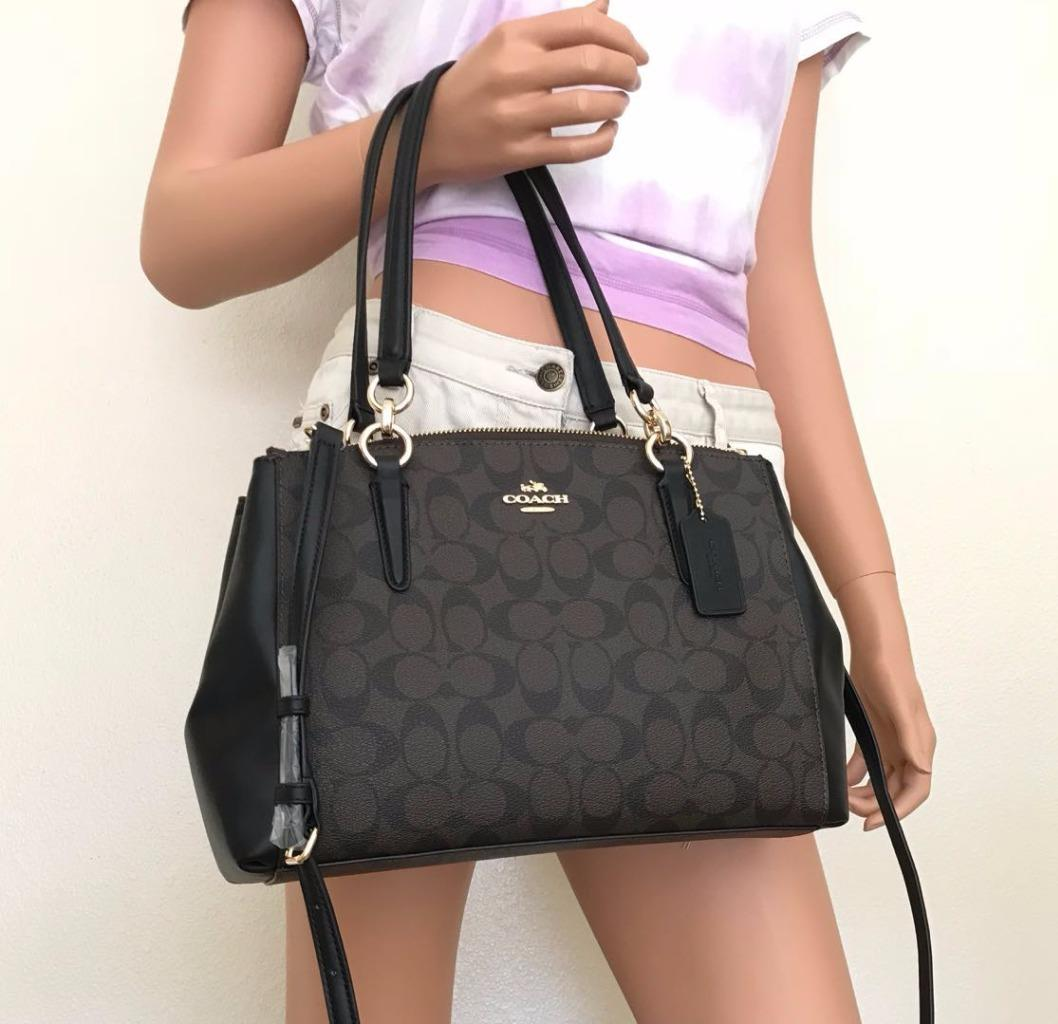 c7f6dafe4073f Description. New With Tag 100% Authentic This list is for a New Coach  Christie Carryall PVC Leather Small Satchel Bag F58291
