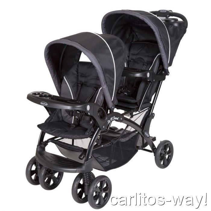 sit n stand double stroller oynx infant