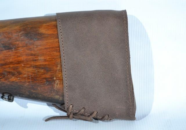 Genuine Leather Brown Butt Pad Magpul Recoil Slip On