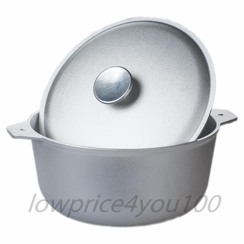 Camping Outdoor Dutch Cast Aluminum Cook Stove Cook Aluminum Pot Oven Bowl Camp Fire with Lid f61a73