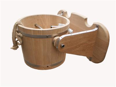 Banya Waterfall Bucket 10L 2.6Gal Wooden Sauna Bath Russian Shower ...