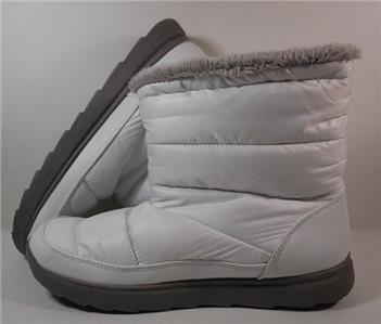 New Womens Tek Gear Hazel White Ankle Slip On Boots Shoes Sz 8