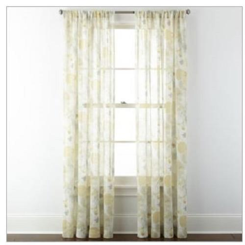 NEW JCPenney Home™ Corina Rod-Pocket Sheer Panel Window