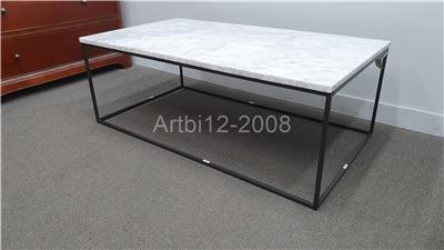 John Lewis West Elm Streamline Marble Coffee Table Rrp 599 2998