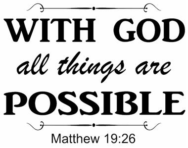 Matthew 19 26 Bible Verse Quote Quot With God All Things Are Quot Wall Art Vinyl Decal Ebay
