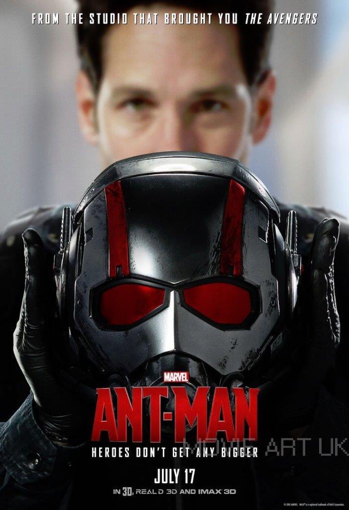 ANT MAN MOVIE POSTER  FILM A4 A3 ART PRINT CINEMA