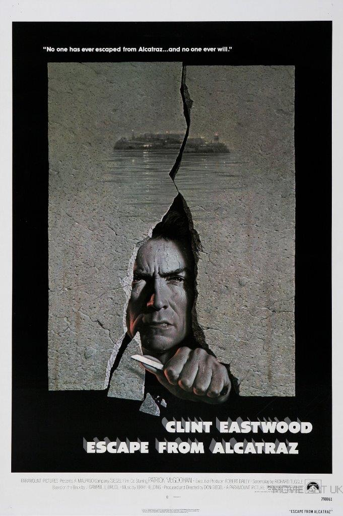 ESCAPE FROM ALCATRAZ VINTAGE MOVIE POSTER  FILM A4 A3 ART PRINT CINEMA