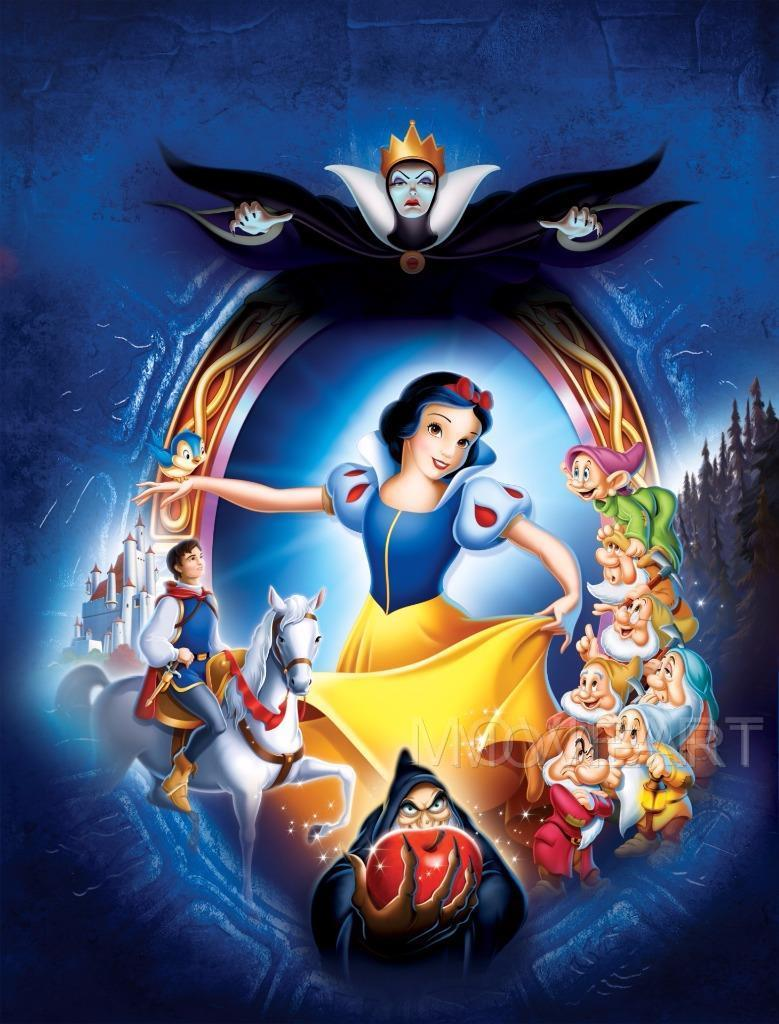 A4 sizes Snow White and the Seven Dwarfs Vintage Movie Poster A2 A3 A1
