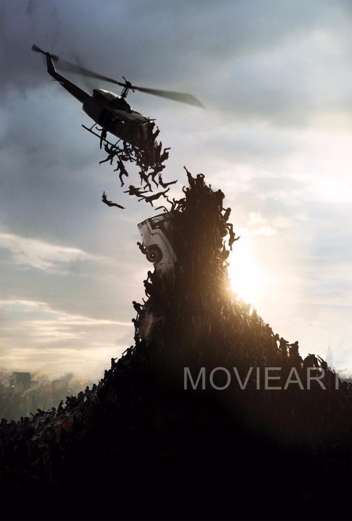 WORLD WAR Z TEXTLESS MOVIE POSTER FILM A4 A3 ART PRINT CINEMA