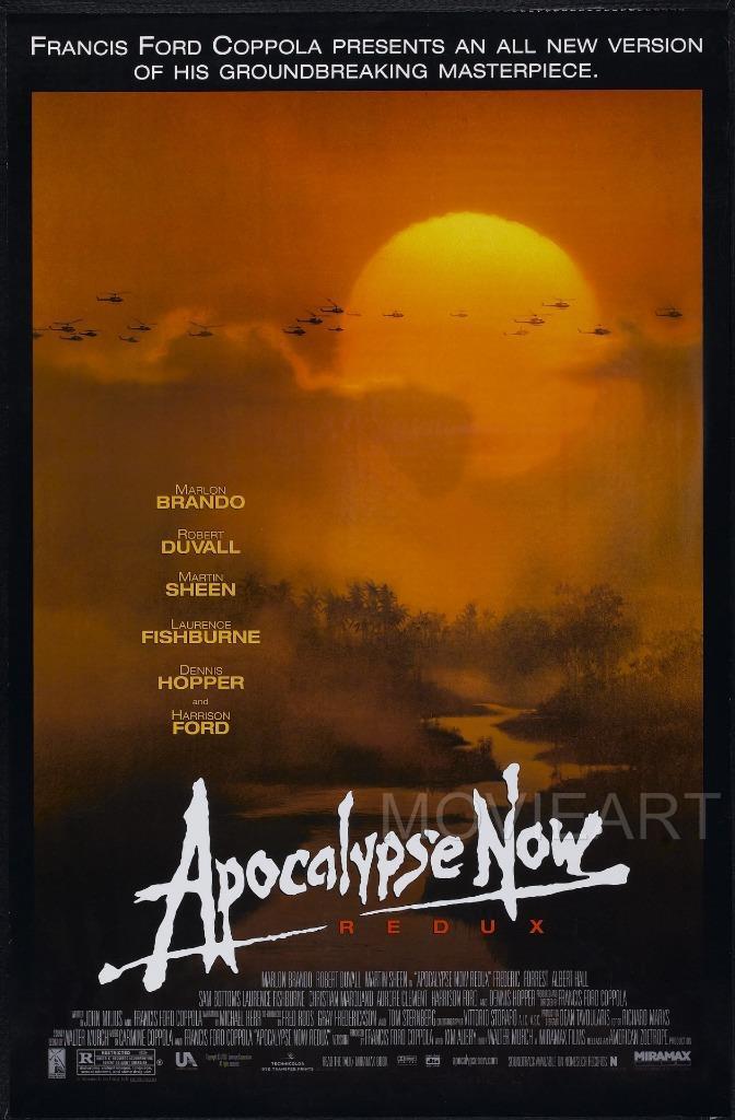 APOCALYPSE NOW VINTAGE MOVIE POSTER FILM A4 A3 ART PRINT CINEMA