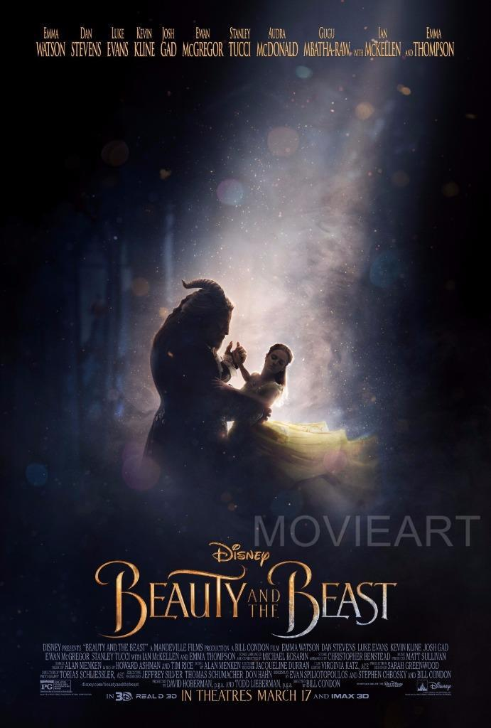 A3 A2 Beauty and the Beast Vintage Movie Poster A1 A4 Sizes
