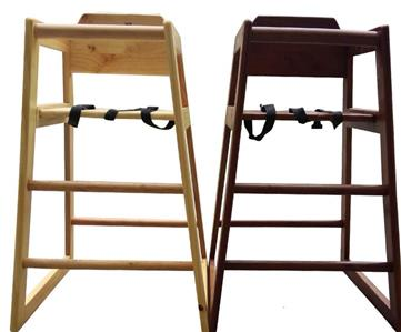 Details about Stackable Kids Baby Wooden Feeding Commercial Home Highchair Restaurant Chair