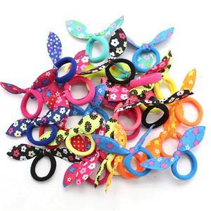 30 Quality Colourful Hair Bands Elastics Bobbles Bunny Girls School Ponies Ties