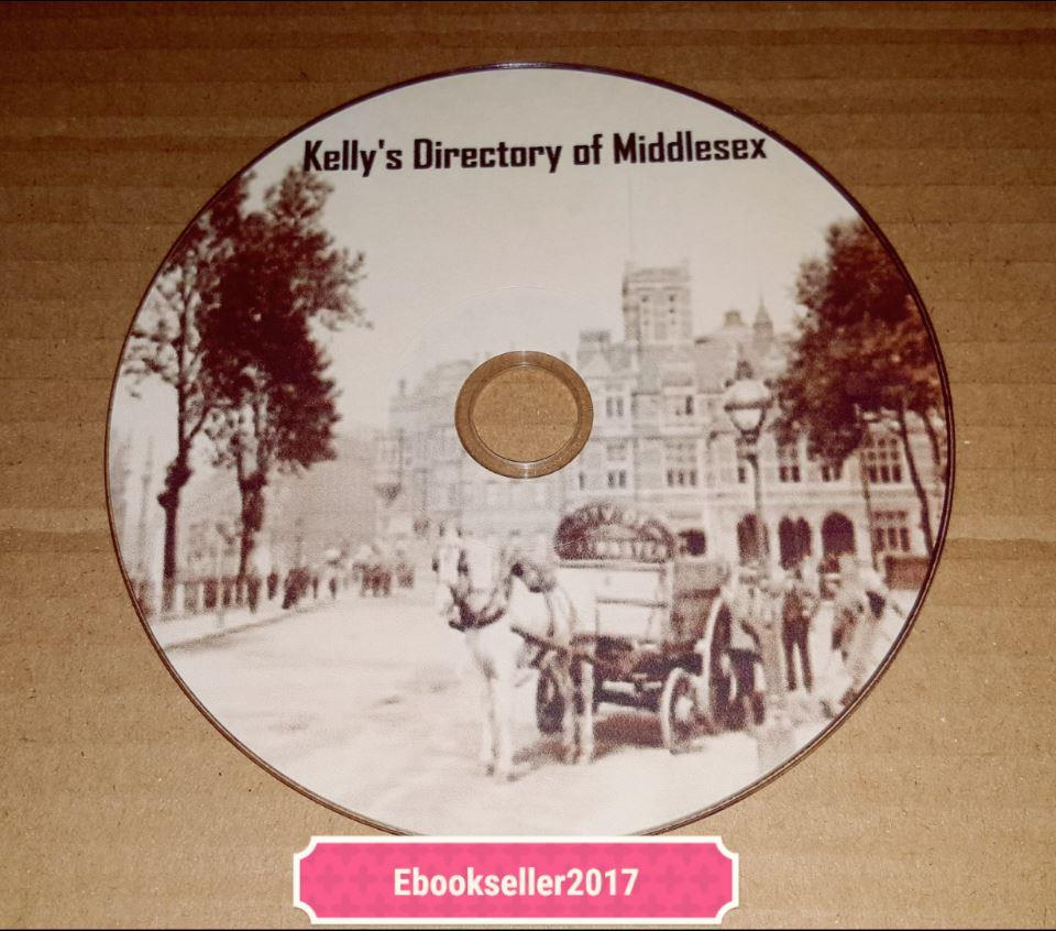 ebooks Kelly/'s Directories kellys genealogy history of Middlesex in pdf on disc