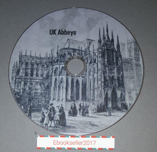 UK Abbeys History /& genealogy in 36 pdf ebooks also kindle epub /& files on disc