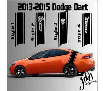 What Does Rt Stand For Dodge >> 2013-2015 Dodge Dart Rear Racing Stripe Vinyl Decal Sticker SXT SRT RT SRT8   eBay