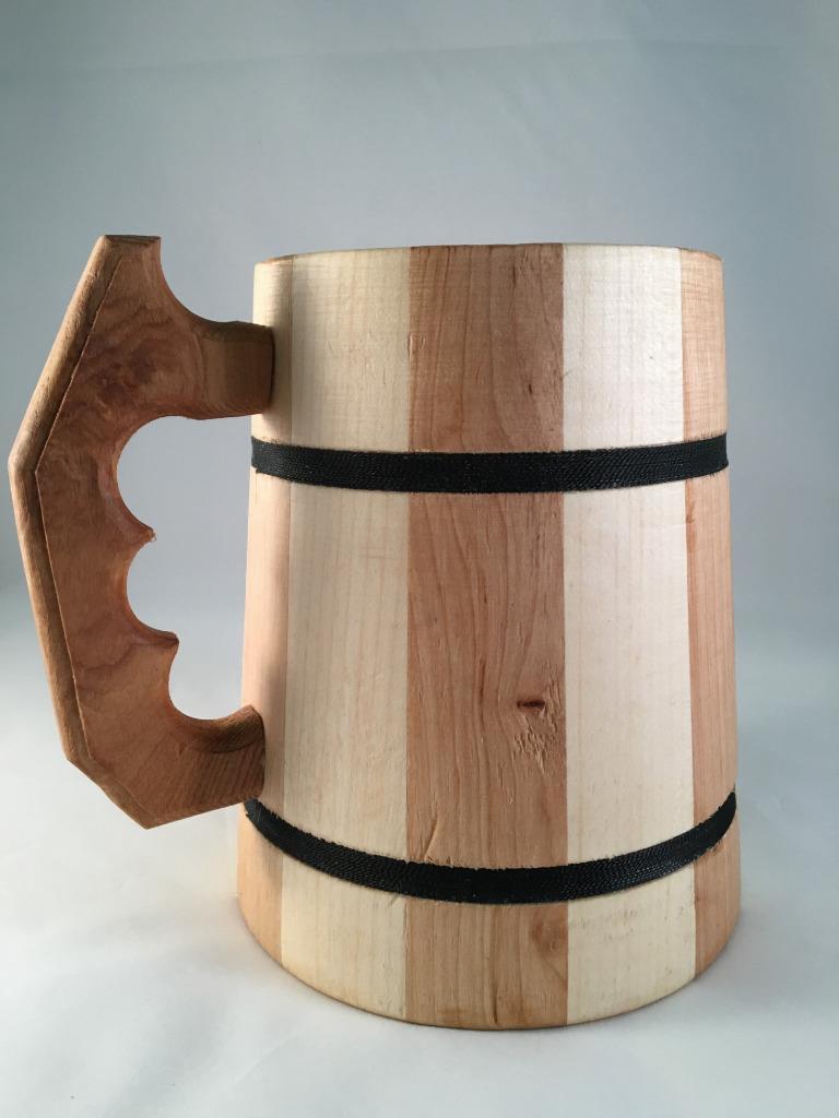 Wooden Tea Cups Oak Wood Mug Handmade Barrel Juice Beer