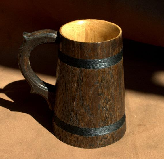 Wooden Tea Cups Wood Mug Handmade Barrel Juice Beer Cup