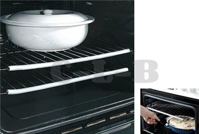 Two Grey Silicone Oven Cooker Shelf Heat Resistant Guard