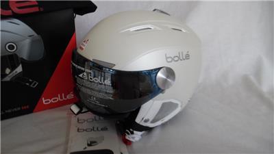 5756dfaa265 Visera Casco de esquí Bolle Backline Suave Premium Blanco Plateado ...