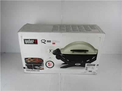 new weber q1000 liquid propane gas grill 1 burner portable. Black Bedroom Furniture Sets. Home Design Ideas