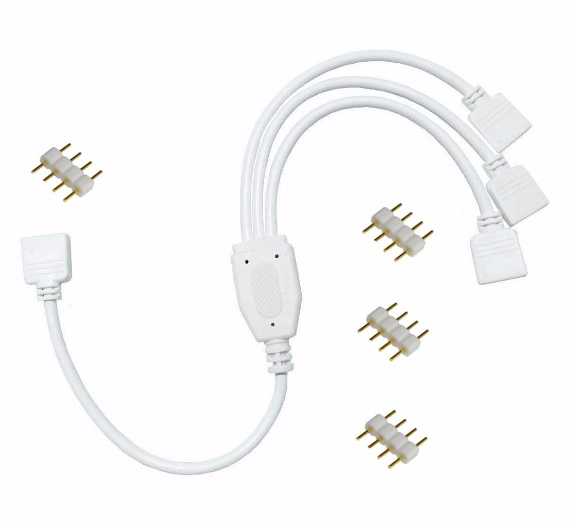 1 zu 3 verteiler verbinder kabel verl ngerungskabel f r led strip rgb leiste de ebay. Black Bedroom Furniture Sets. Home Design Ideas