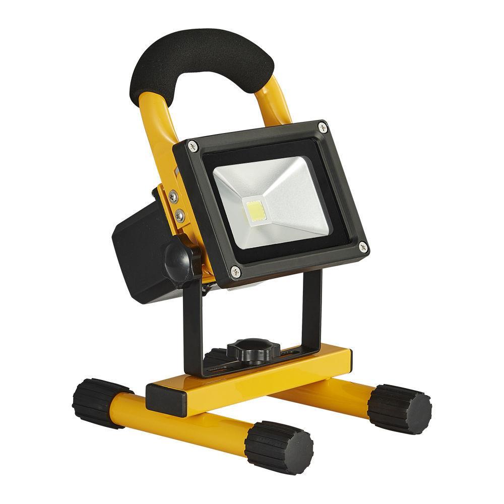 10w led akku fluter warmwei strahler handlampe ip65 arbeitslampe baustrahler ebay. Black Bedroom Furniture Sets. Home Design Ideas