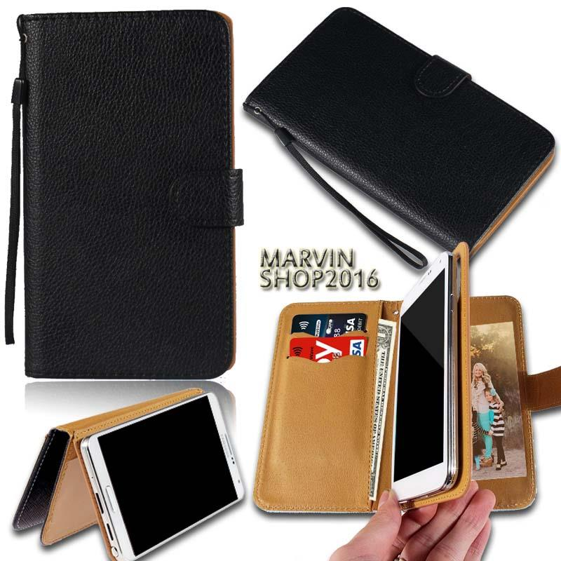 Leather-Wallet-Card-Stand-Flip-Case-Cover-For-Various-BLU-Life-SmartPhones