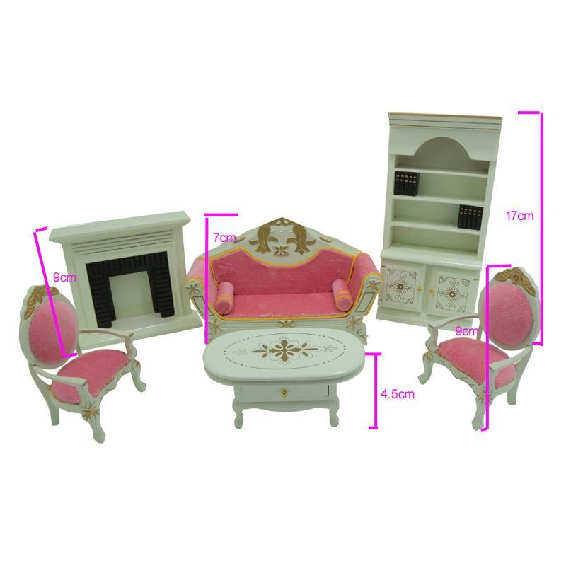 Großhandel 1:12 Skala 6 Stücke Dollhouse Miniature Wohnzimmer Möbel ...