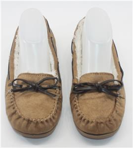 Airwalk Women s Light Brown Faux Fur Slip On Moccasin Slippers Size 6 Shoes 5734b07d3
