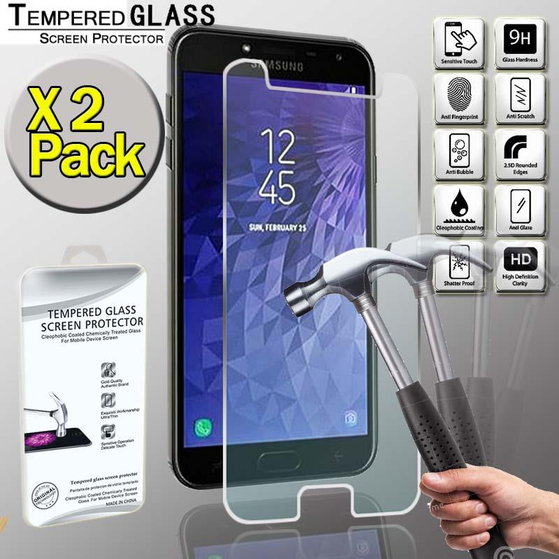 2 x For Samsung Galaxy J8 2018 100/% Genuine Tempered Glass Screen Protector Film