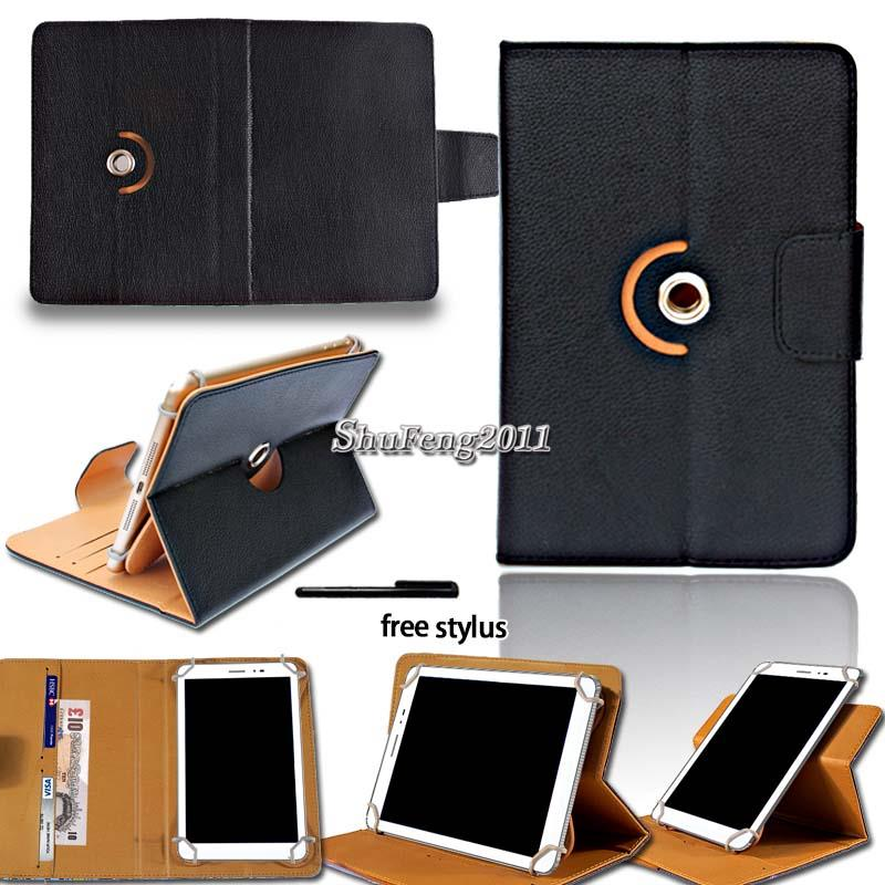 Leather-Flip-Rotating-Stand-Cover-Case-For-Various-ARCHOS-9-034-10-034-Tablet-Stylus