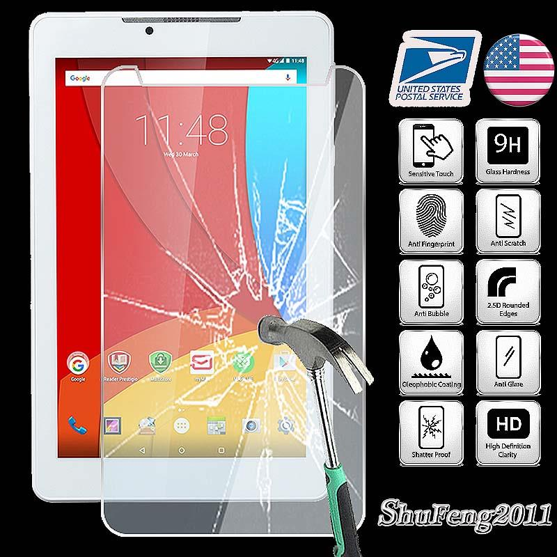 "Tempered Glass Screen Protector For Prestigio MultiPad Wize 3797 7/"" Tablet"