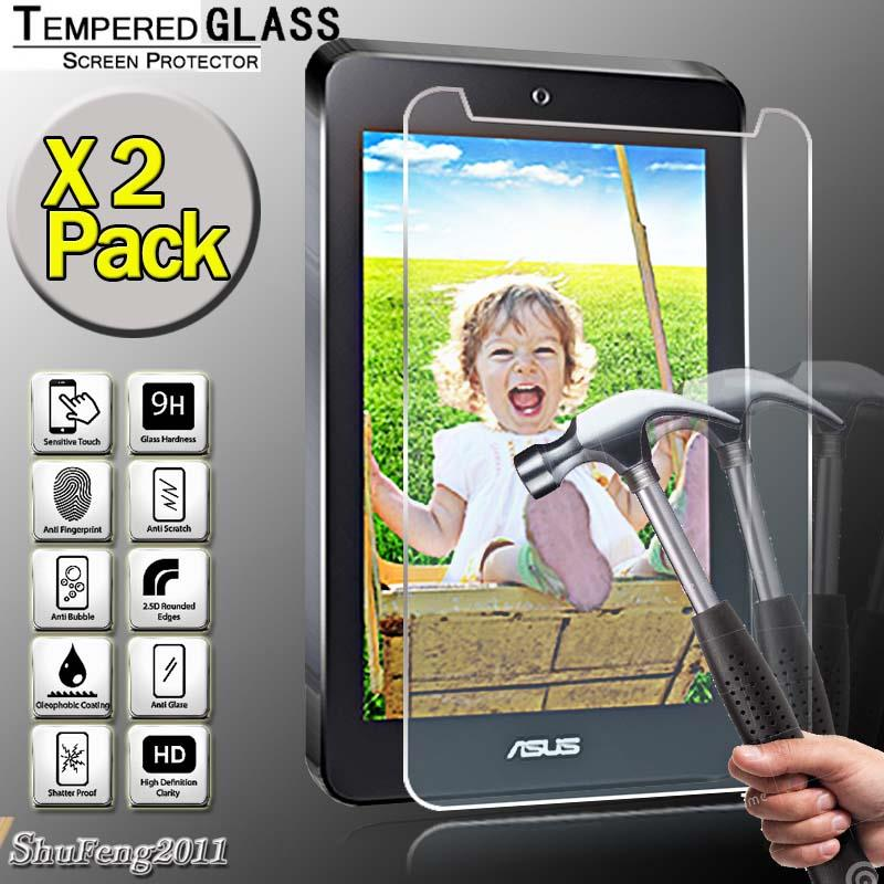 "2 Pack Tempered Glass Screen Protector For Asus Eee Pad MeMO 7.1/"" Tablet"