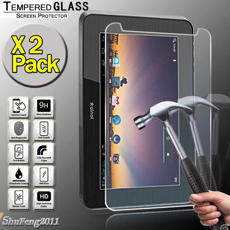 2 Pack Tempered Glass Screen Protector For AINOL Novo Numy Note 7