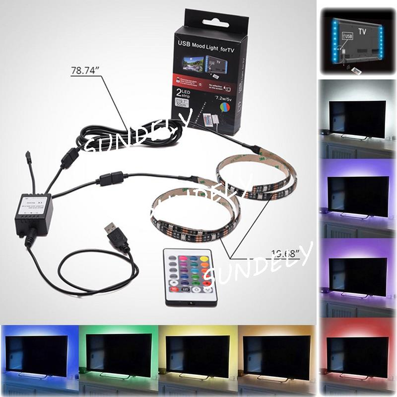 Led Home Theater Tv Back Light Bias Accent Lighting Kit: LED Home Theater TV BackLight Accent RGB Multi Color