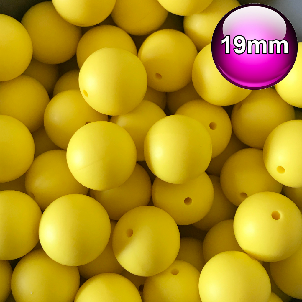 MIXED 10x 19mm silicone beads round BPA free baby teeth safe nursing chew 20mm