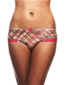 Panache Cleo Sadie Brief shorts Orange multi checked 5892 size 12 to 16 Fre P/&P