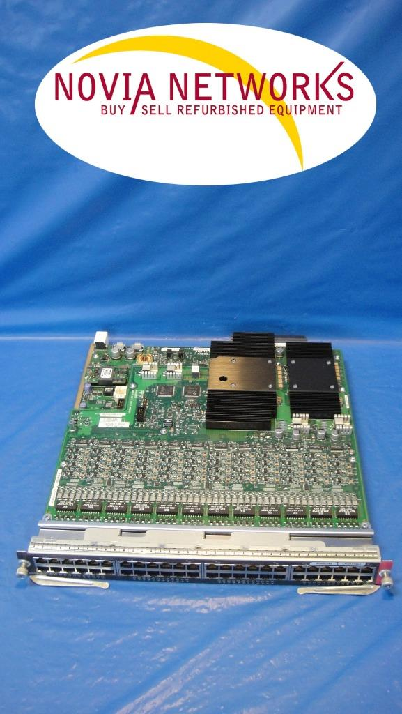 48-Port 10 100 1000 RJ-45 Module WS-F6K-48-AT Cisco WS-X6148E-GE-45AT PoE