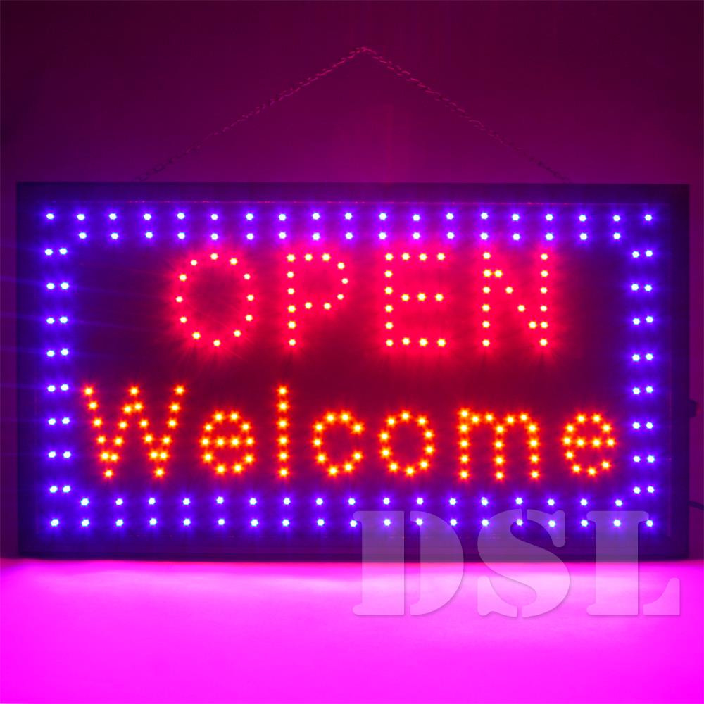 Good Quality Shop Lights: Top Quality Super Bright Flashing LED OPEN Shop Sign Neon