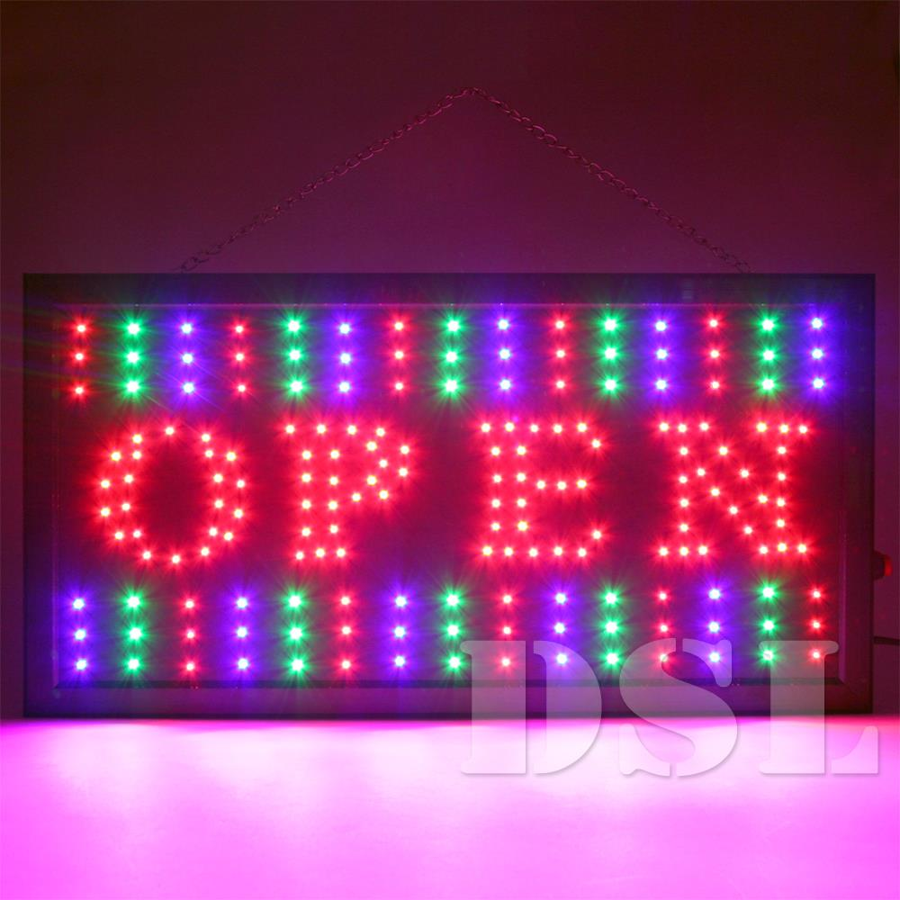 Top Quality Super Bright Flashing LED OPEN Shop Sign Neon