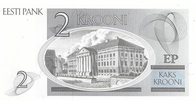 Tartu University P ESTONIA 2 Krooni Uncirculated from 1992 70a
