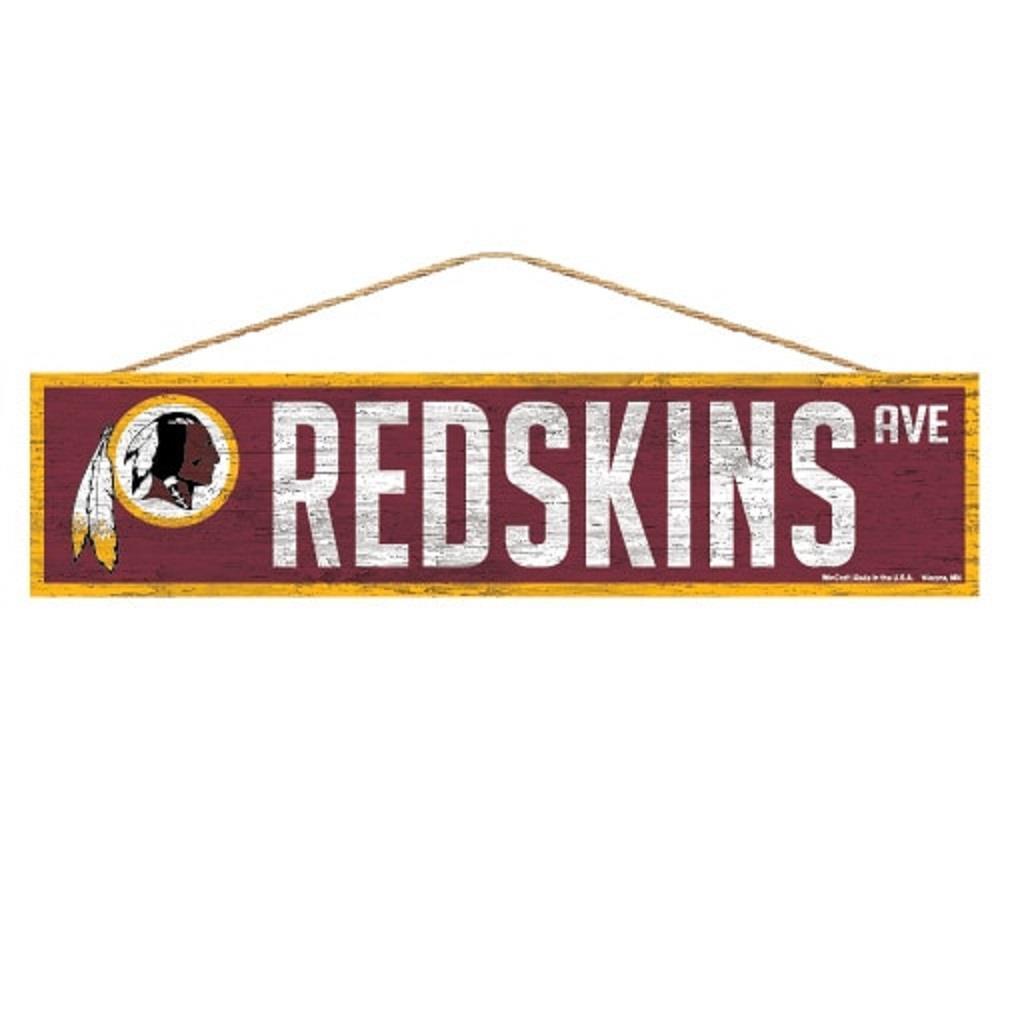 "Washington Redskins 4""x17"" Wood Sign Avenue Design  NFL Wall"