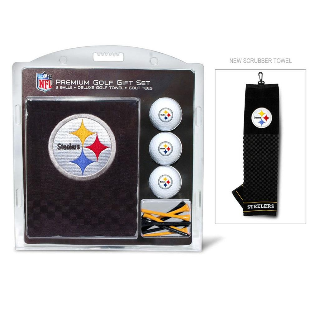 Pittsburgh Steelers Golf Gift Set with Embroidered Towel  Ba