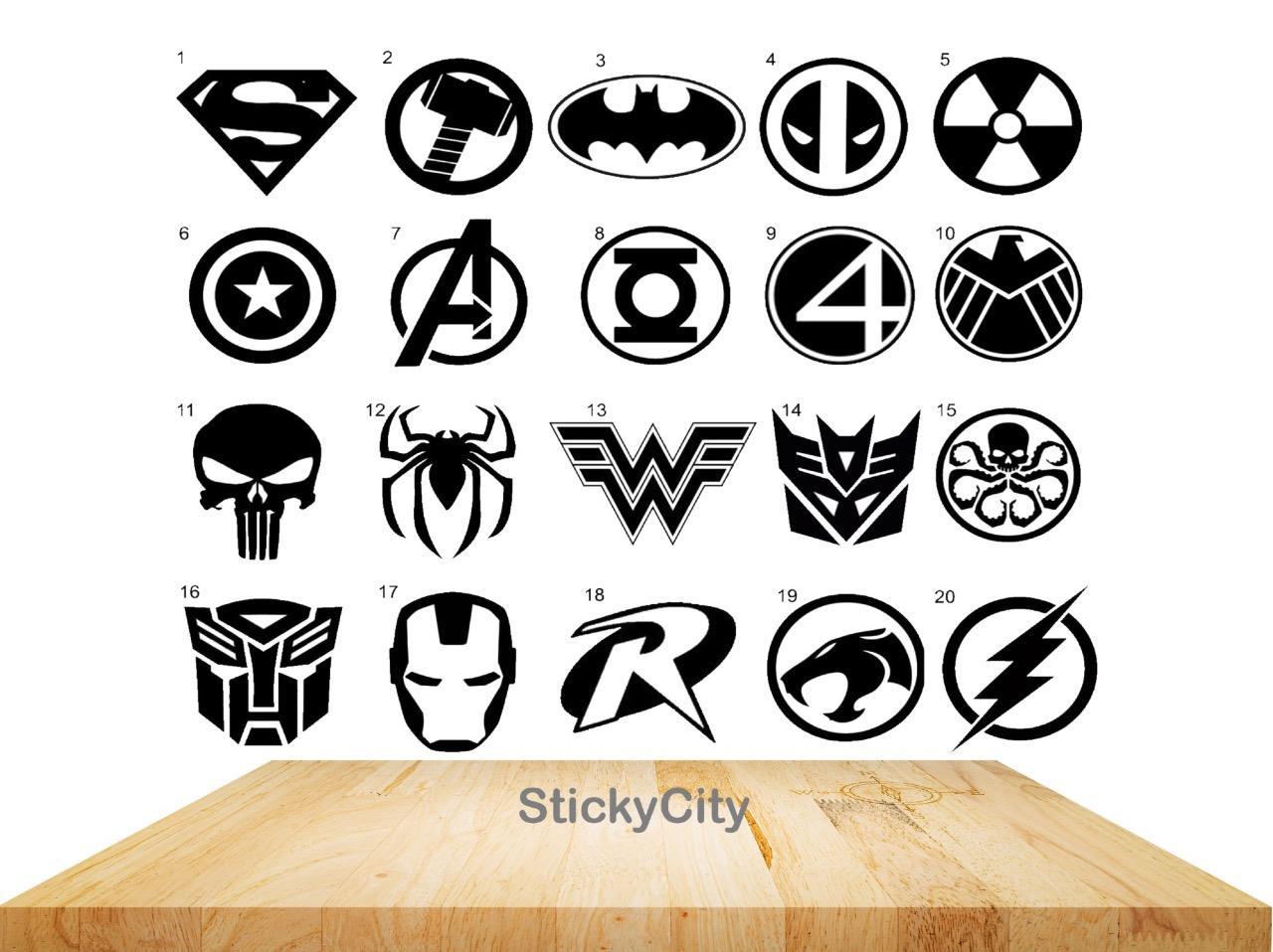 10cm-Superhero-Marvel-Vinyl-Decal-Sticker-Car-Window-Laptop-Kids-Bedroom-0211