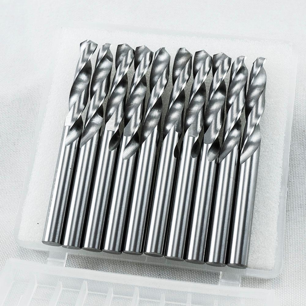 "KLOT 10pcs Solid Carbide Drill Bit 3.7mm 0.14567/"" 2-Flute Straight Shank K10"