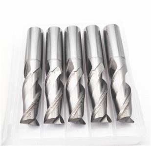 KLOT 2pcs HRC50 Solid Carbide End Mill For Aluminum 1mm-6mm 2-Flute Cutter Bits
