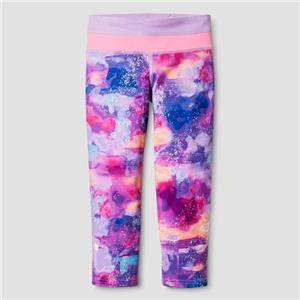 78566351a11c C9 Champion Girls  Performance Capri Leggings Pink Clouds Print - XS (4 - 5)