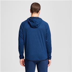 XXL River Blue Heather C9 Champion Men/'s Fleece Stripe Full Zip Sweatshirt